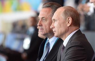 Министр спорта РФ Виталий Мутко и президент России Владимир Путин