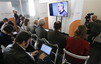 """Онлайн пресс-конференция с экс-главы """"ЮКОСа"""" Михаила Ходорковского"""