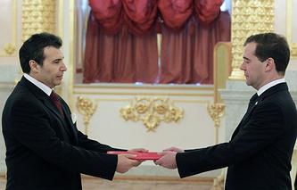 Али Гутали и Дмитрий Медведев, 2011 год