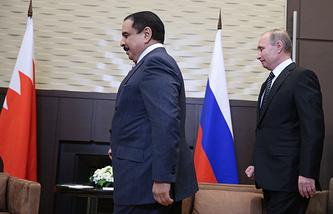Король Бахрейна Хамад II бен Иса аль-Халиф и президент России Владимир Путин