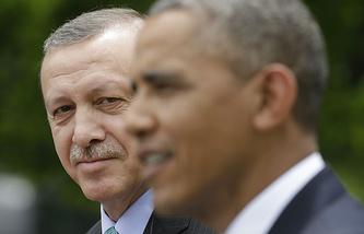 Президент Турции Тайип Эрдоган и президент США Барак Обама