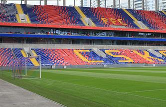 Вид на трибуны стадиона ЦСКА