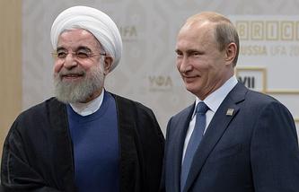 Президент Ирана Хасан Роухани и президент РФ Владимир Путин