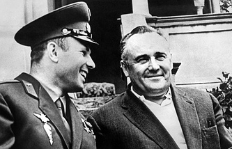 Юрий Гагарин и Сергей Королев, 1961 год
