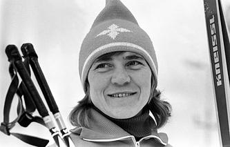 Раиса Сметанина во время подготовки к Олимпиаде 1976 года