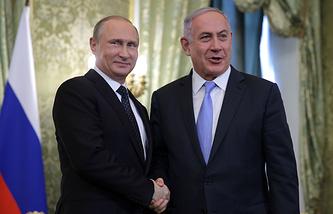 Президент России Владимир Путин и премьер-министр Израиля Беньямин Нетаньяху