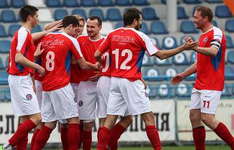 Футболисты сборной Крыма