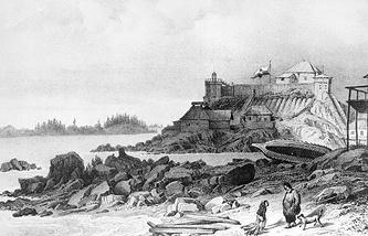 Аляска. Штаб-квартира Русско-Американской компании в Ситке,1827 год