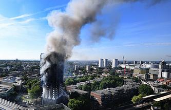 Пожар в жилом доме Grenfell Tower