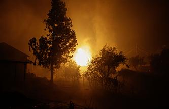 Лесной пожар в Педроган-Гранди, Португалия