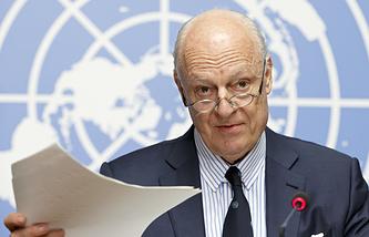 Спецпосланник генерального секретаря ООН по Сирии Стаффан де Мистура