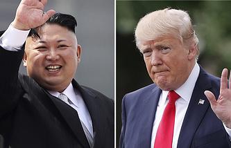 Il leader nordcoreano Kim Jong-un e il suo omologo statunitense Donald Trump
