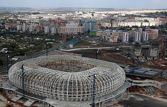 """Строительство стадиона """"Мордовия-Арена"""" в Саранске"""