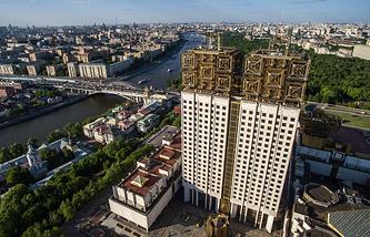 Вид на здание Российской академии наук
