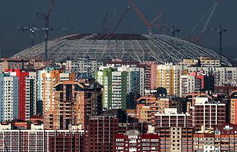 """Строительство стадиона """"Самара Арена"""""""