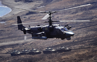"""Многоцелевые всепогодные вертолеты ВКС РФ Ка-52 """"Аллигатор"""""""