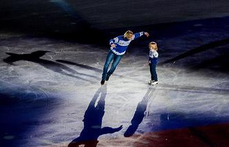 Евгений Плющенко и его сын Александр