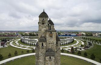 Вид на Мемориал памяти и славы в Назрани