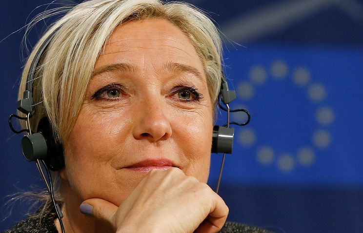 French far-right National Front party leader Marine Le Pen