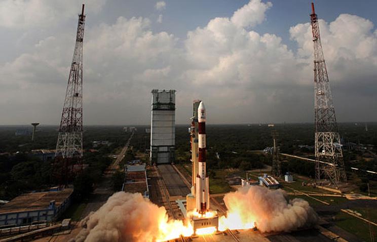 Запуск индийского космического аппарата на острове Шрихарикота