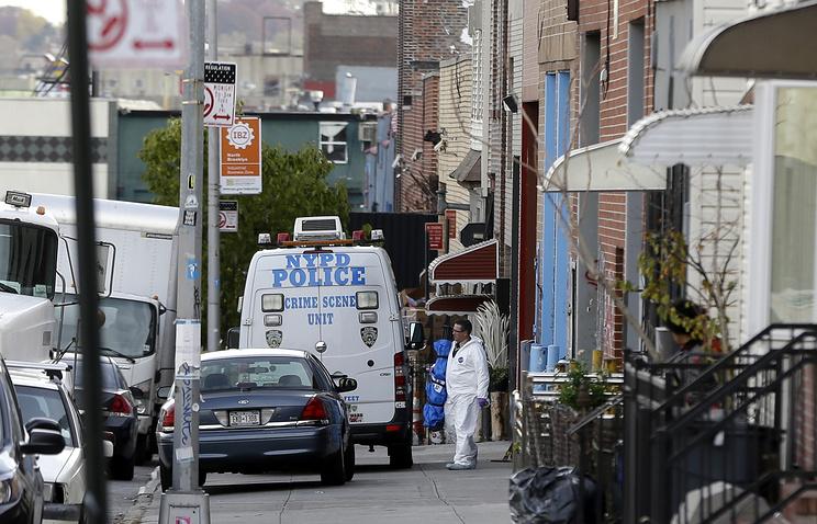 Место трагедии в Бруклине