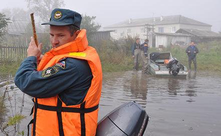 Во время наводнениея. Фото ИТАР-ТАСС/ ГУ МЧС России по Хабаровскому краю
