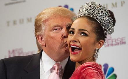Дональд Трамп и Мисс Вселенная 2012 Оливия Калпо. Фото EPA/VALERIE MACON / MISS UNIVERSE ORGANIZATION
