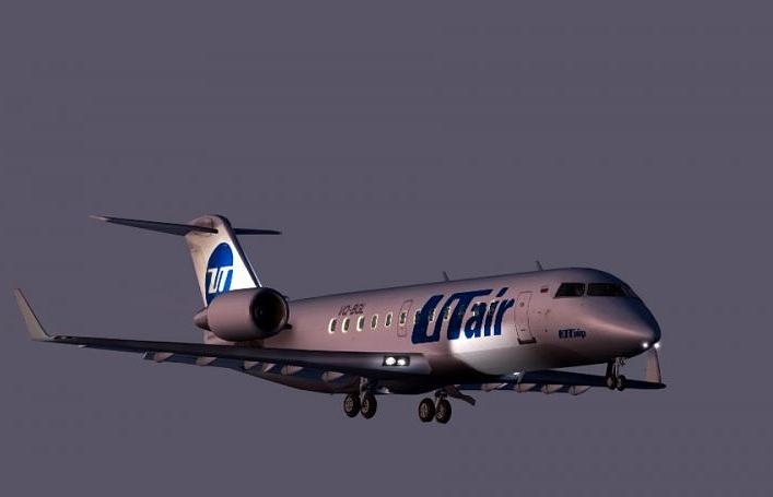 Самолет Bombardier CRJ-200 авиакомпании UTair