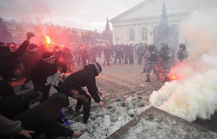Столкновения с полицией на Манежной площади, 11 декабря 2010