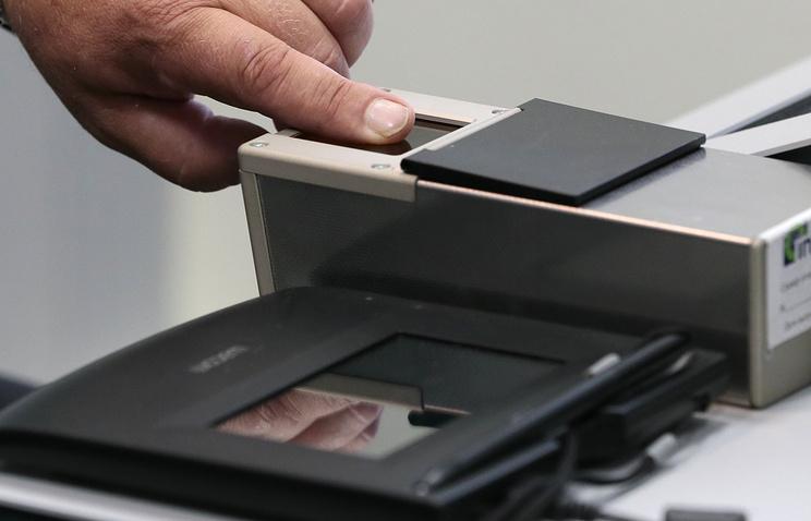 Снятие биометрических данных сканером