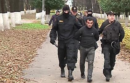 Во время задержания. Фото ИТАР-ТАСС/ Пресс-служба ГУ МВД РФ