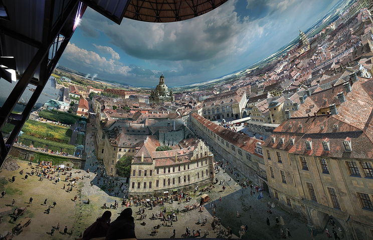 Круговая панорама Дрездена Ядегара Азизи