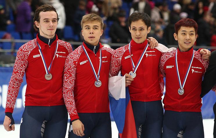 Россияне Димтрий Мигунов, Семен Елистратов, Владимир Григорьев и Виктор Ан (слева направо)