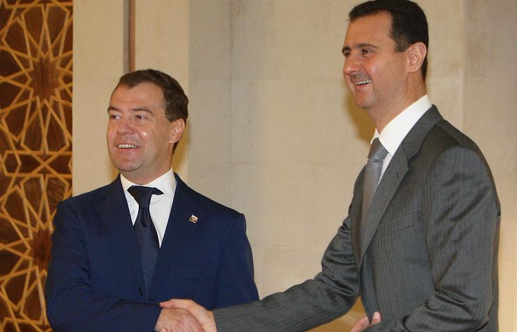 Дмитрий Медведев и Башар Асад в 2010 году