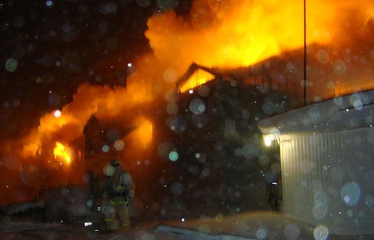 На месте пожара в Когалыме