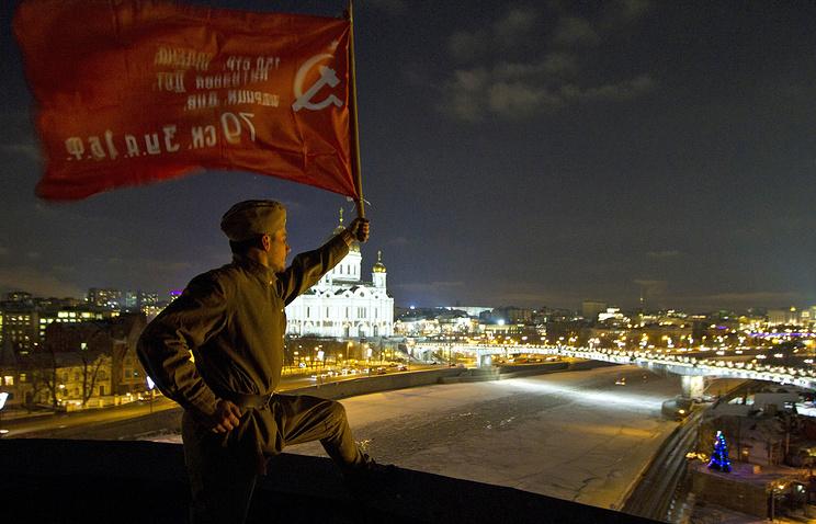 "Акция протеста на крыше здания телеканала ""Дождь"". Москва. 27 Января 2014 г."