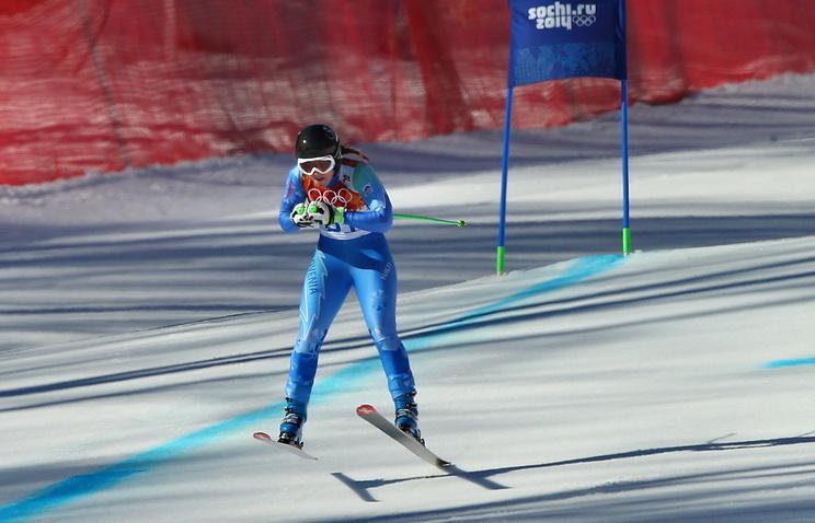 Словенская спортсменка Тина Мазе