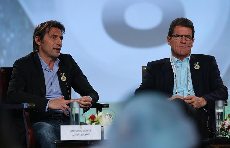 Антонио Конте (слева) и Фабио Капелло (справа)