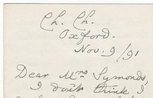 Фрагмент письма Льюиса Кэррола