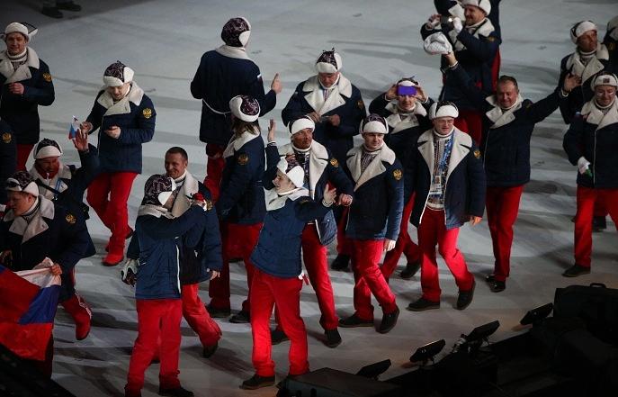 Российская сборная на церемонии открытия Игр