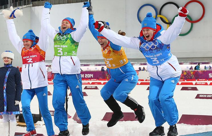 Яна Романова, Ольга Зайцева, Екатерина Шумилова и Ольга Вилухина (слева направо)