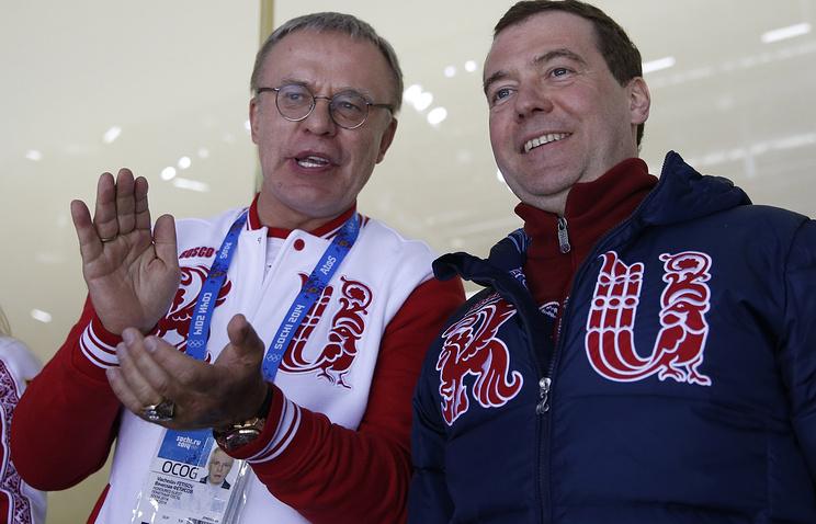 Вячеслав Фетисов и Дмитрий Медведев
