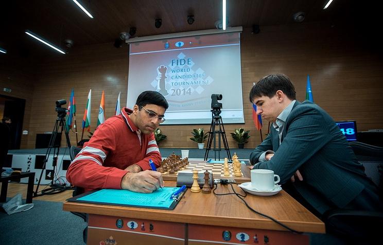 Вишванатан Ананд и Дмитрий Андрейкин
