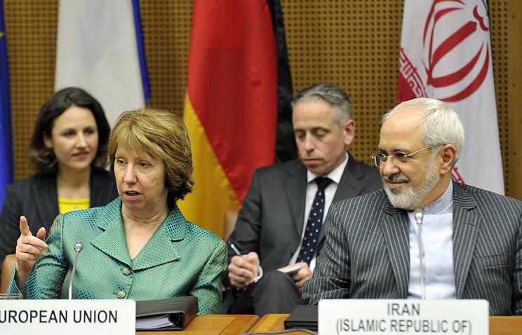 Верховный представитель ЕС по иностранным делам и политике безопасности Кэтрин Эштон и глава МИД Ирана Джавад Зариф