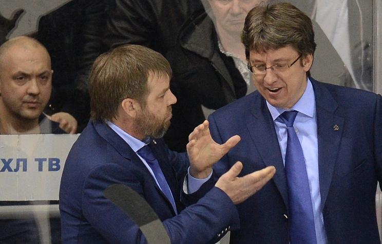 Олег Знарок и Харийс Витолиньш (слева направо)