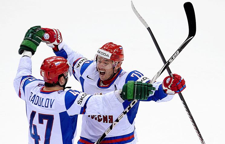Александр Радулов и Илья Ковальчук (слева направо)