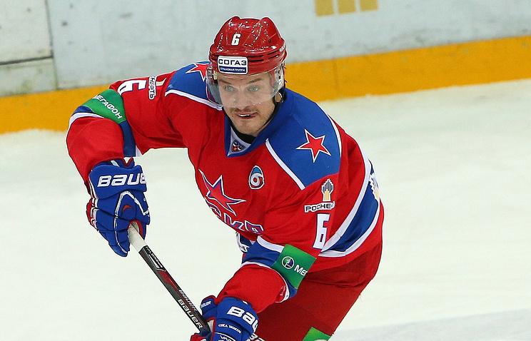 Хоккеист ЦСКА Денис Денисов не сыграет против команды Словакии