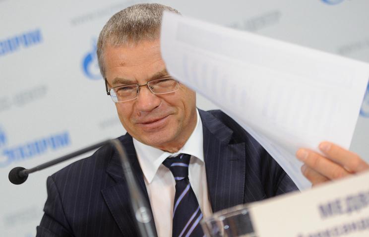 """Заместитель председателя правления ОАО """"Газпром"""" Александр Медведев"""