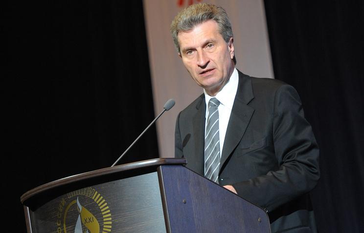 Комиссар ЕС по вопросам энергетики Гюнтер Эттингер