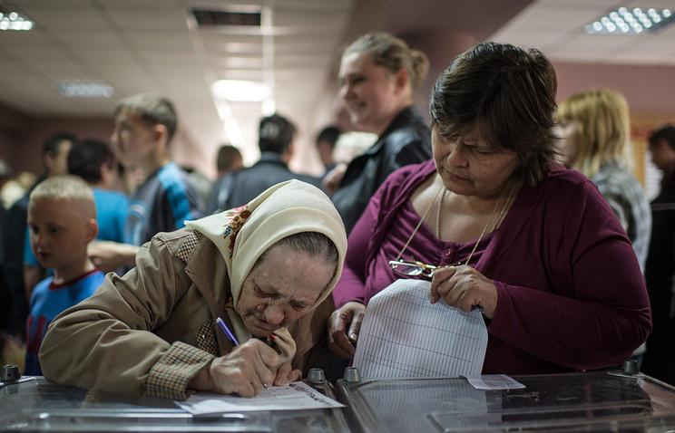 Избирательный участок в Мариуполе